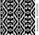 ethnic striped black and white... | Shutterstock .eps vector #551427253