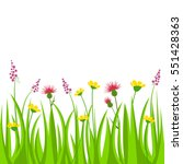 vector illustration meadow with ... | Shutterstock .eps vector #551428363