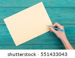 blank paper waiting for idea... | Shutterstock . vector #551433043