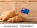 fresh croissant and australian... | Shutterstock . vector #551433817