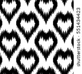 ethnic seamless pattern with... | Shutterstock .eps vector #551434423