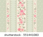 seamless floral background.... | Shutterstock .eps vector #551441083
