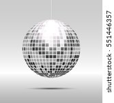 Disco Ball Icon Isolated On...