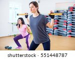 group of people excercising... | Shutterstock . vector #551448787
