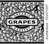 retro grapes harvest label... | Shutterstock .eps vector #551477257