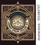old whiskey label | Shutterstock .eps vector #551484757