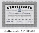 grey certificate template or... | Shutterstock .eps vector #551500603