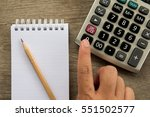 man hold the pen for note on... | Shutterstock . vector #551502577