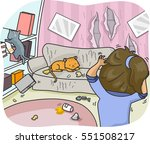 illustration of a woman... | Shutterstock .eps vector #551508217