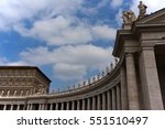columns and statues in saint...   Shutterstock . vector #551510497