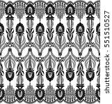 seamless lace pattern  flower... | Shutterstock .eps vector #551510527