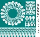 vector set of design elements ... | Shutterstock .eps vector #551510557