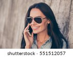 portrait of happy young woman... | Shutterstock . vector #551512057