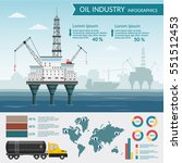 vector oil rig industry... | Shutterstock .eps vector #551512453