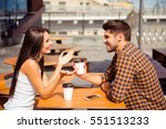 young couple having date in... | Shutterstock . vector #551513233