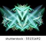 elegant design green fractal | Shutterstock . vector #55151692