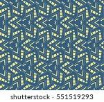 modern geometric seamless... | Shutterstock . vector #551519293