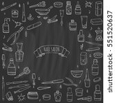 hand drawn doodle nail salon... | Shutterstock .eps vector #551520637
