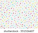 colorful confetti seamless... | Shutterstock .eps vector #551526607