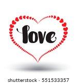love calligraphy heart stroke....