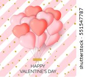 happy valentine's day card... | Shutterstock .eps vector #551547787