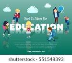 back to school for education... | Shutterstock .eps vector #551548393