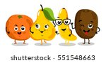 cute fruit cartoon characters... | Shutterstock .eps vector #551548663