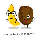 cute fruit cartoon characters... | Shutterstock .eps vector #551548693