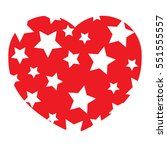icon heart  vector isolated... | Shutterstock .eps vector #551555557