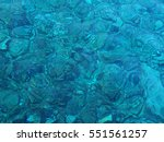 very clean and blue sea water... | Shutterstock . vector #551561257