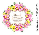 romantic invitation. wedding ...   Shutterstock .eps vector #551561953