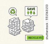 paper recycling vector...   Shutterstock .eps vector #551563153