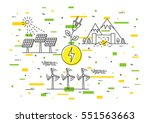 alternative energy sources...   Shutterstock .eps vector #551563663