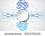 abstract technological... | Shutterstock .eps vector #551570233