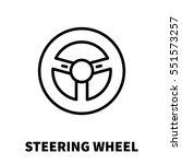 steering wheel icon or logo in... | Shutterstock .eps vector #551573257