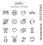 set of game icons in modern... | Shutterstock .eps vector #551573263