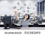 beautiful businesswoman looking ... | Shutterstock . vector #551582893