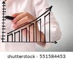 hand drawing a chart show | Shutterstock . vector #551584453
