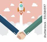 handshake deal business....   Shutterstock .eps vector #551584597