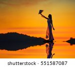 beautiful  woman with vietnam... | Shutterstock . vector #551587087