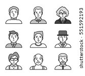 vector people icons set   men | Shutterstock .eps vector #551592193