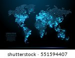 abstract image of a world map... | Shutterstock .eps vector #551594407