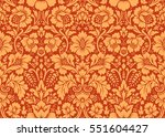 vector seamless floral pattern... | Shutterstock .eps vector #551604427