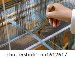 weaving work. hand woven. | Shutterstock . vector #551612617