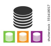 data storage vector icon | Shutterstock .eps vector #551618017