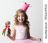 beautiful little candy princess ... | Shutterstock . vector #551619523
