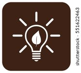 eco light bulb vector icon.... | Shutterstock .eps vector #551622463
