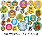 cute animals icons in a baby... | Shutterstock .eps vector #551625463