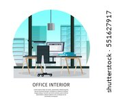 office interior template with... | Shutterstock .eps vector #551627917