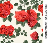 seamless vintage pattern with... | Shutterstock .eps vector #551629483